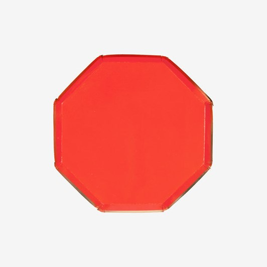 Meri-Meri Small Red Octagonal Plate