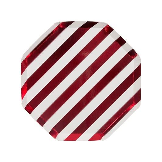 Meri Meri Shiny Red Stripe Side Plate