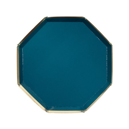 Meri-Meri Large Dark Green Octagonal Plate