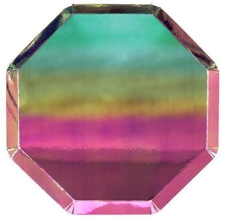 Meri-Meri Small Oil Slick Octagonal Plate