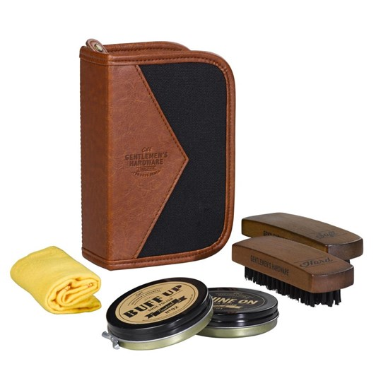 Gentleman's Hardware Shoe Shine Kit Charcoal