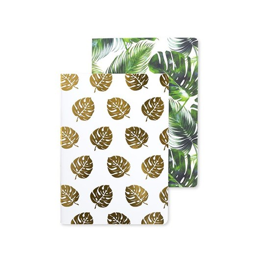 Image Gallery Tropical Leaf A5 Notebook Set Of 2