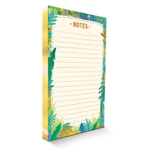 Image Gallery Gilded Notepad Tropical