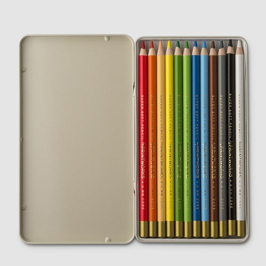 Printworks Colour Pencils Tin Of 12