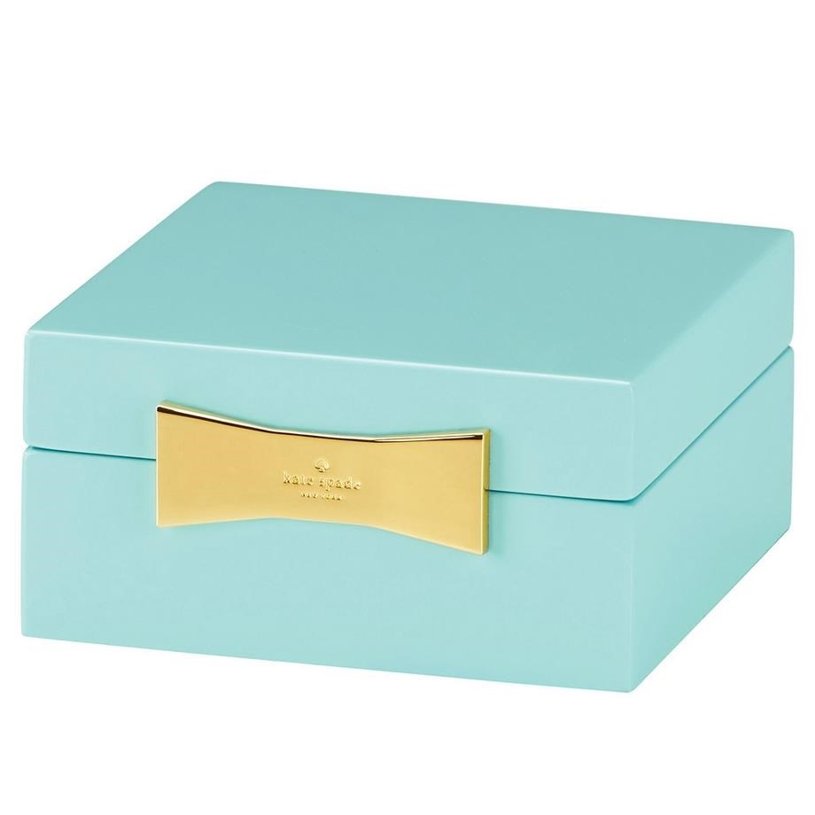 kate spade new york Garden Drive Square Jewellery Box 10cm Turq - turquoise