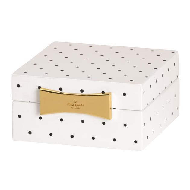 kate spade new york Garden Drive Square Jewellery Box 10cm Spot -