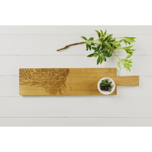 Just Slate Highland Cow Oak Searving Tray