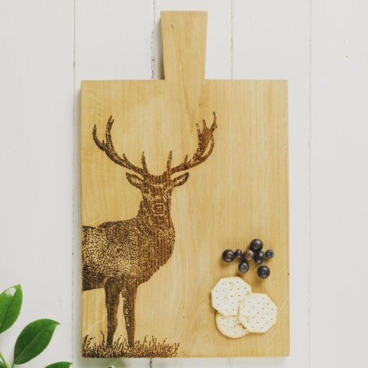 Just Slate Large Monarch Stag Oak Serving Paddle