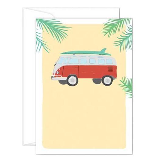 Poppy Card - VW Combi