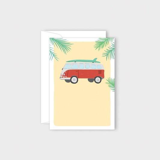 Poppy Card - VW Combi
