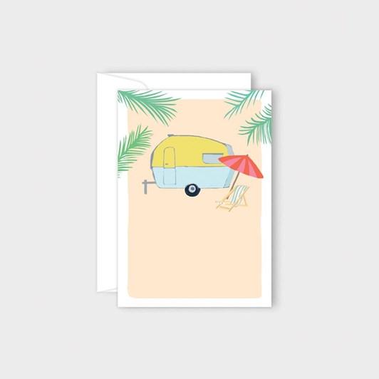 Poppy Card - Caravan