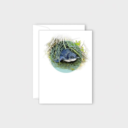 Poppy Card - Little Blue Penguin