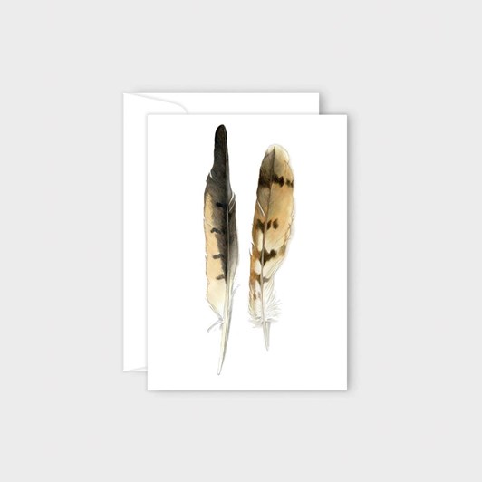 Poppy Card - Harrier Feathers