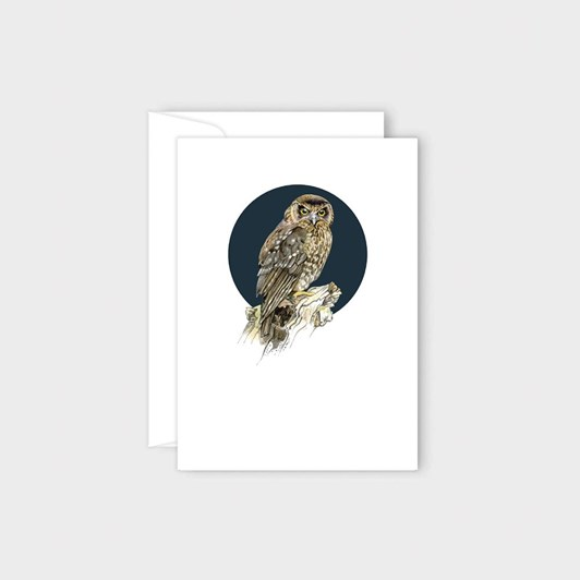 Poppy Card - Morepork