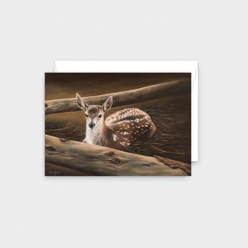 Poppy Card - Fawn -