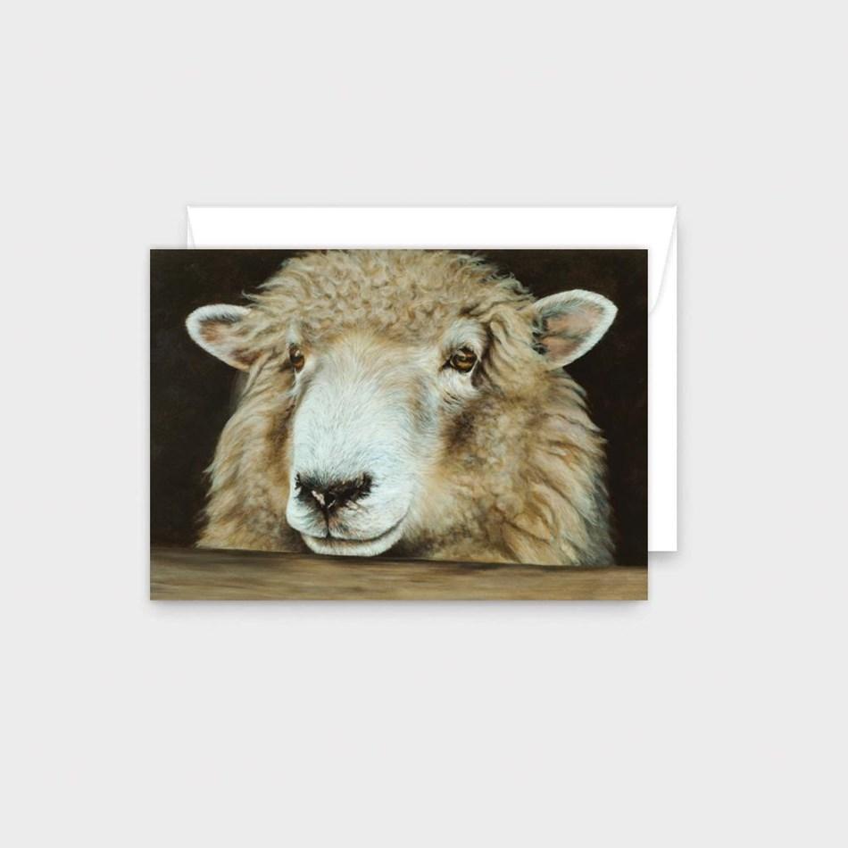 Poppy Card - Sheeps Face -
