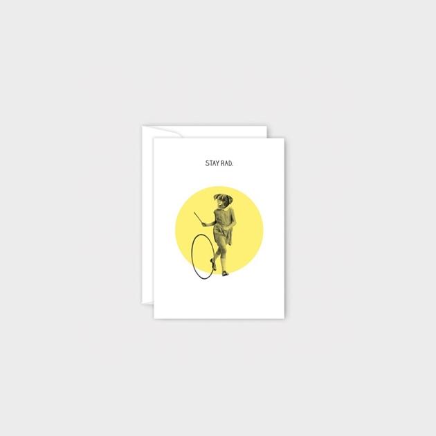 Poppy Mini Card - Stay Rad -