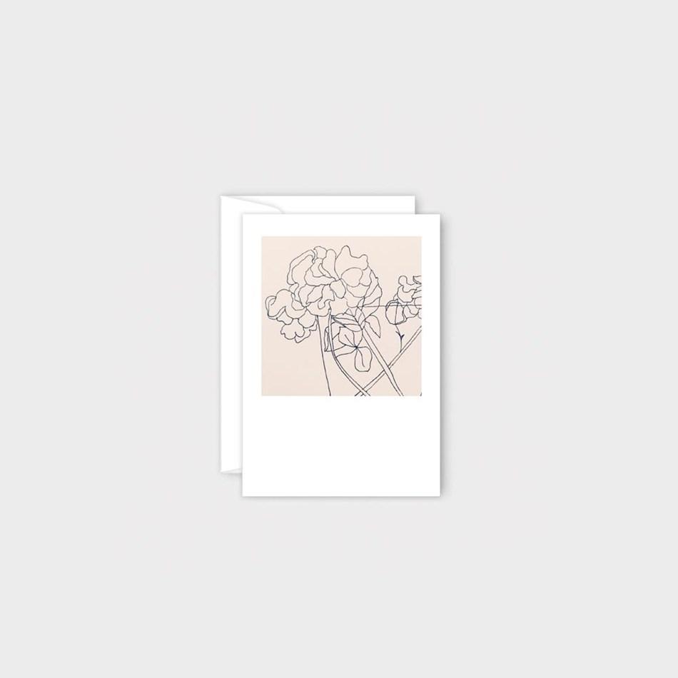 Poppy Mini Card - Beige Flower -