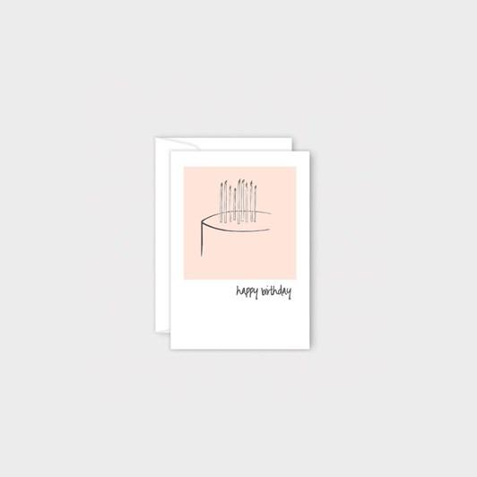 Poppy Mini Card - Beige Cake