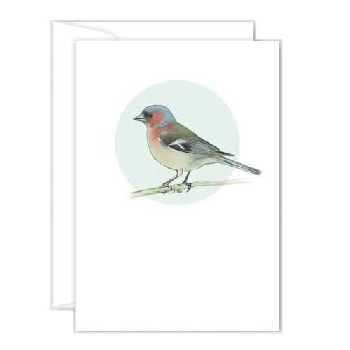 Poppy Mini Card - Chaffinch