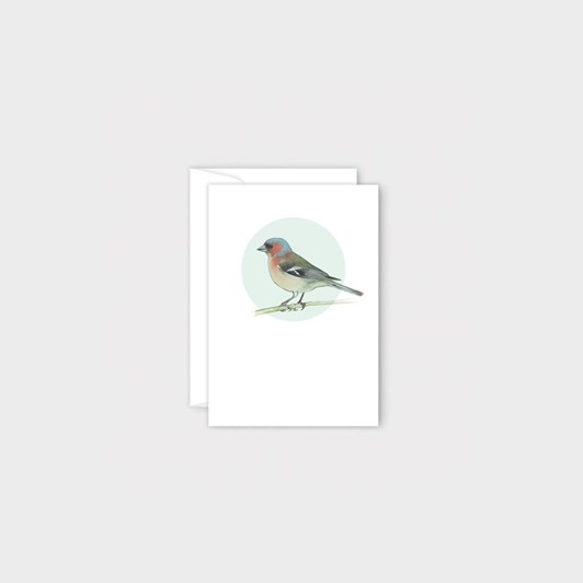 Poppy Mini Card - Chaffinch