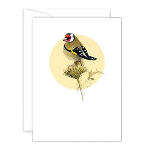 Poppy Mini Card - Goldfinch