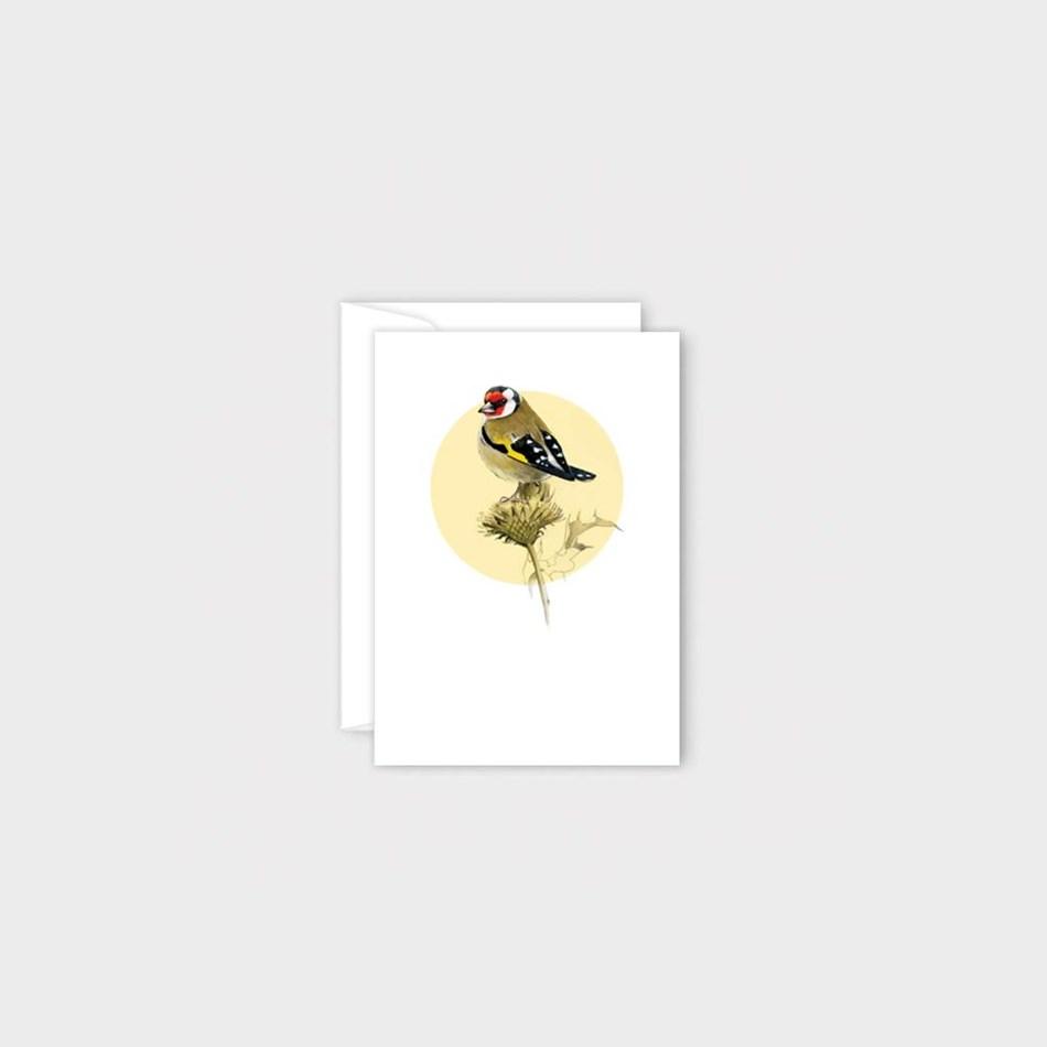 Poppy Mini Card - Goldfinch -