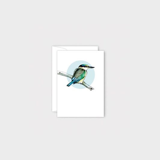 Poppy Mini Card - Kingfisher