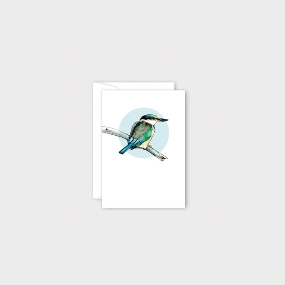 Poppy Mini Card - Kingfisher -