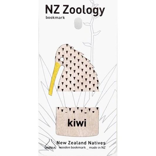 Kiwi Wood Printed Bookmark
