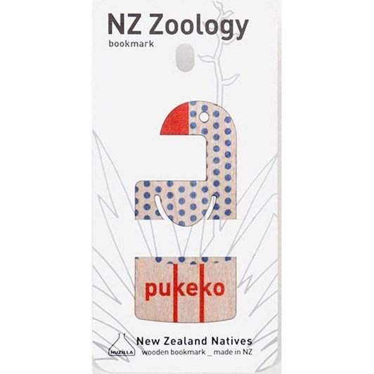 Pukeko Wood Printed Bookmark