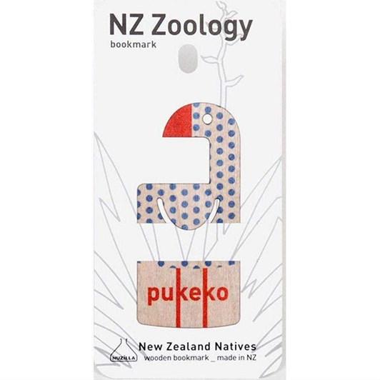 Pukeko Wood Printed Bookmark