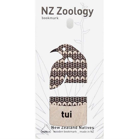 Tui Wood Printed Bookmark