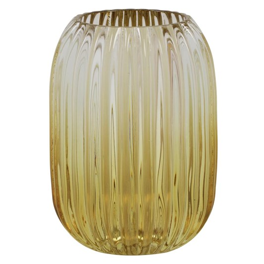 Light & Living Tealight 9,5X13 Cm Pertu Clear Glass+Yellow