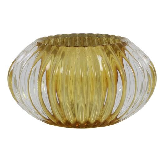Light & Living Tealight 11X6,5 Cm Pertu Clear Glass+ Yellow