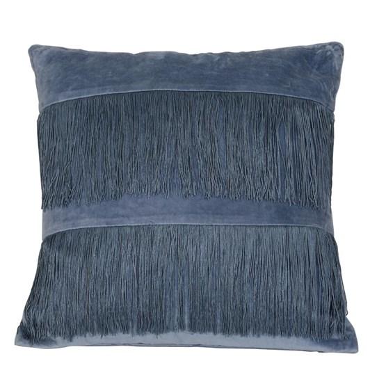 Light & Living Pillow 45X45 Cm Fringes Blue