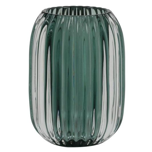 Light & Living Tealight 9,5X13 Cm Pertu Clear Glass+Dark Green