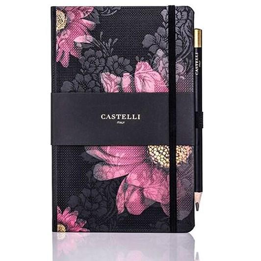 Castelli Midnight Floral Gerbera Notebook