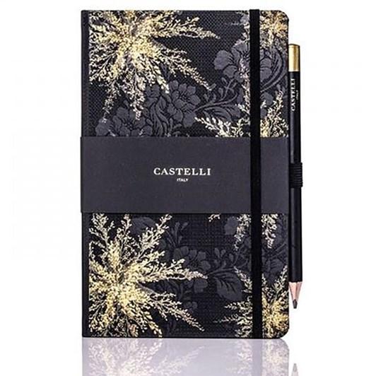 Castelli Midnight Floral Heather Notebook