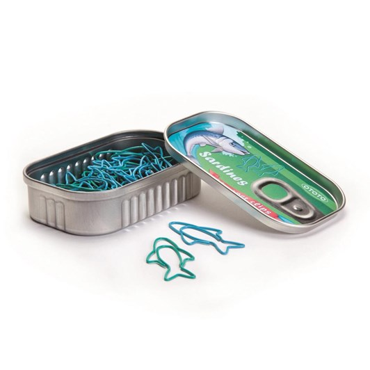 Ototo Sardine Paper Clips Tin Of 30