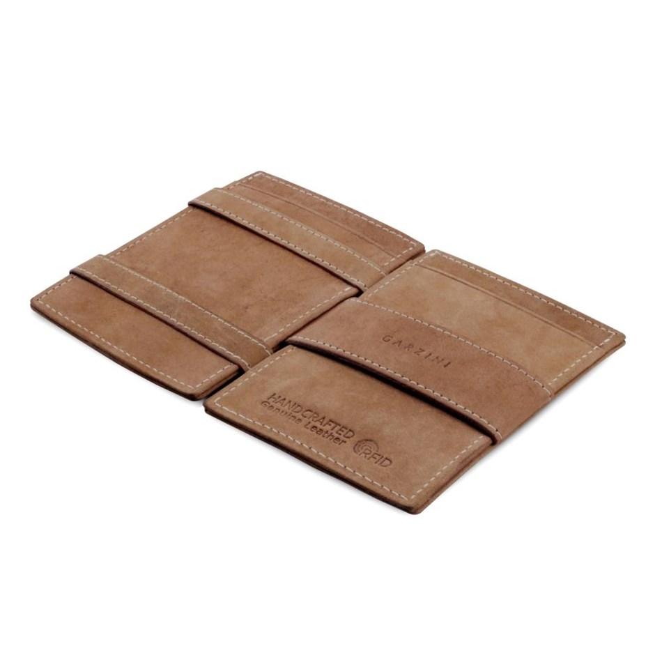 Garzini Cavare Magic Wallet Camel Brown - brown