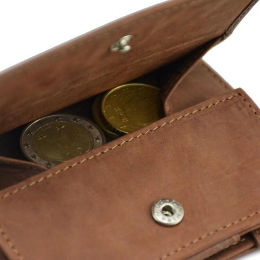 Garzini Essenziale Coin Pocket Magic Wallet Java Brown
