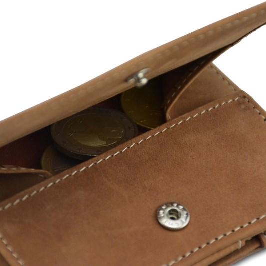 Garzini Essenziale Coin Pocket Magic Wallet Camel Brown
