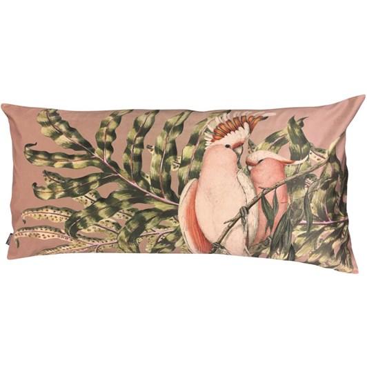 Vanilla Fly Velvet Cushion Birdie Mauve 40X80 Cm