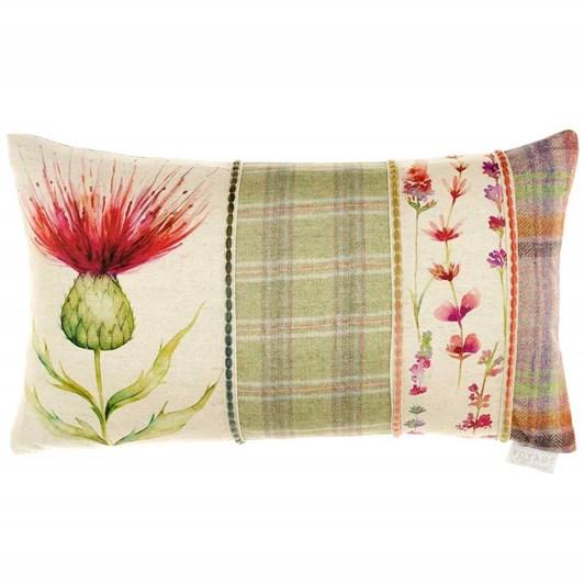 Voyage Maison Cardus Thistle Patchwork Ruby 35X60 Cushion