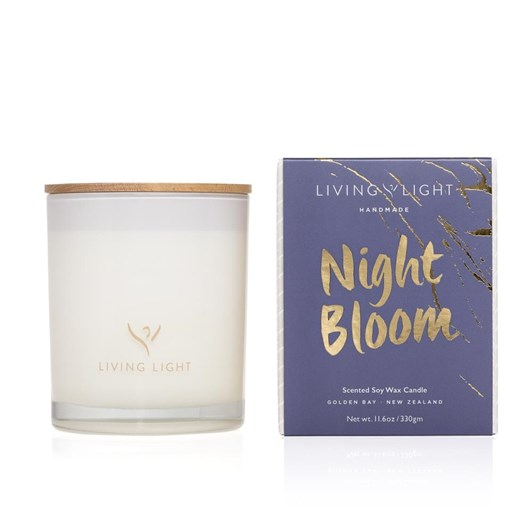 Living Light Imagine Soy Candle Night Bloom ~65Hrs Boxed