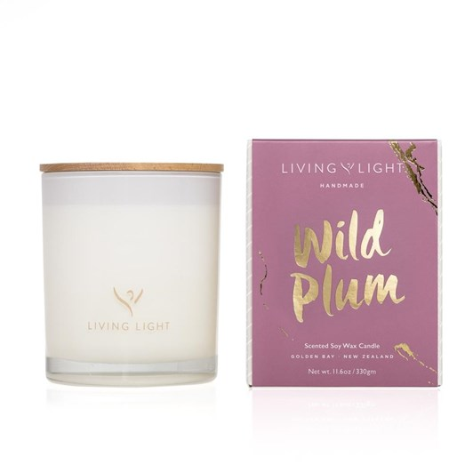 Living Light Imagine Soy Candle Wild Plum ~65Hrs Boxed