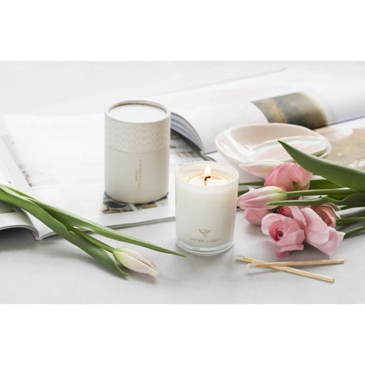 Living Light Imagine Soy Candle Wild Plum Mini ~30Hrs Boxed