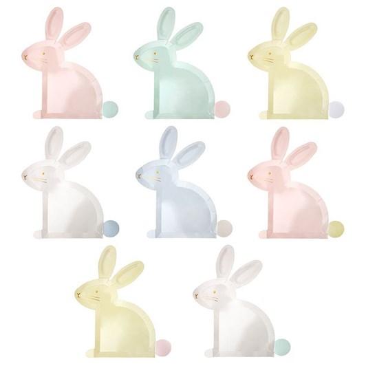 Meri-Meri Pastel Bunny Plates
