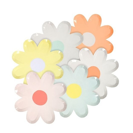 Meri-Meri Pastel Daisy Canape Plates